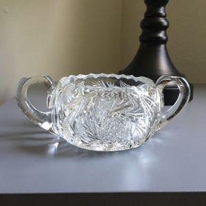 Antique-Crystal Bowl Ornament
